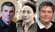 Erhalten finanzielle Unterstützung für ihre Forschungsprojekte: Boris Previsic, Christine Abbt und André Bächtiger (von links). (Bild: pd)