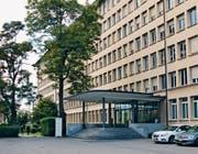 Eingangsbereich des ehemaligen Landis & Gyr-Gebäudes (Bild: PD/Stadtzug.ch)