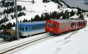 Die Rigi-Bahnen im Winter. (Bild René Meier/Zisch)