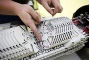 Das Glasfasernetz von der ewl kommt bald auch in Littau in den Gebrauch. (Bild: Manuela Jans / Neue LZ)