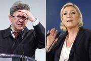 Jean-Luc Mélenchon und Marine Le Pen (Bilder: Keystone)