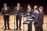 Die King's Singers haben sehr individuelle Stimmen und bringen sie dennoch zur perfekten Harmonie. (Bild: Manuela Jans-Koch (10. Dezember 2017))