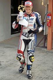 In Thailand fährt Hans Mühlebach auf der Eskil-Suter-Maschine die Moto2-Meisterschaft. (Bild: PD)
