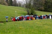 Viele Zugerinnen und Zuger pilgern am Auffahrtstag von verschiedenen Gemeinden nach Einsiedeln. (Bild: Archiv Stefan Kaiser / Neue ZZ)