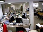 Blick in die Redaktionsräume der Neuen Schwyzer Zeitung. (Bild: Neue SZ)