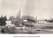 Kriens anno dazumal: Sängerfest 1912 (oben), Kupferhammer-Walzwerk 1893 (unten). Fotos aus Privatbesitz
