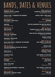 Das Programm des neuen Festivals. (Bild: PD)