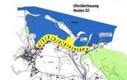 Grafik der Uferüberbauung in Nuolen. (Grafik pd)