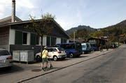Das Truppenlager Kleine Schliere in Alpnach. Hier entsteht ein Asylzentrum des Bundes. (Bild: Adrian Venetz / Neue OZ)