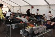 Jedes Jahr spenden rund 700 Töfffahrer ihr Blut auf dem Glaubenberg. (Bild: PD)
