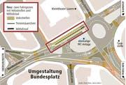 Die Situation rund um den Bundesplatz. (Bild: Grafik: Oliver Marx, Janina Noser)
