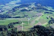 So hätte der Windpark aussehen sollen. (Bild: Visualisierung PD)