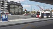 Visualisierung der beiden neuen Durchmesserperrons Seite Bahnhofplatz und Seite Hauptpost (Bild PD)
