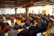 Drei Stunden wurde über das Budget 2013 diskutiert. (Bild: Andreas Oppliger/Neue SZ)