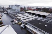 Blick auf das ZVB-Areal in Zug. (Bild: Werner Schelbert (Zug, 21. Dezember 2015))