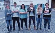 Der Vorstand des Frauenschwingclubs von links: Anita Schneider (SZ), Lucia Iten (ZG), Beatrice Frei-Inderbitzin (SZ), Carmen Inderbitzin (SZ), Michèle Eicher (LU) und Rita Ott-Waldvogel (SZ). (Bild: PD)