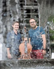 Haben bald ihren grossen Auftritt: Jonas Vischi (links) und Stefan Wieland. (Bild: Nadja Schärli (Luzern, 21.6.2017))