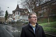 Ende des letzten Jahres bezeichnete Hans Peter Stutz den Standort an der Museggstrasse in Luzern noch als Glücksfall für ein Hospiz. Nun hat sich gezeigt, ein Umbau ist zu teuer. (Bild Pius Amrein)