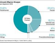 Umsatz der Migros-Gruppe im Jahr 2016 (Bild: Grafik: Martin Ludwig)