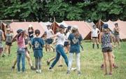 Das Lagerleben steht im Mittelpunkt, wie hier bei der Jubla Rotkreuz im vergangenen Sommer. (Bild: Pius Amrein (Uffikon, 9. August 2017))