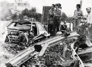 In Capaci (Sizilien) liess Riina am 23. Mai 1992 den Mafiajäger Giovanni Falcone und dessen Frau durch eine Bombe ermorden. (Bild: Ansa/EPA)