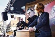Die Maskenliebhaber lassen das SRF-Komikerduo Giacobbo/Müller wieder auftreten. (Bild: Jakob Ineichen (Luzern, 23. Februar 2017))