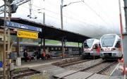 Der Bahnhof Biberbrugg wird umgebaut. (Bild Erhard Gick/Neue SZ)