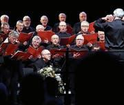 Rund 50 starke Männerstimmen erfreuten das Publikum. (Bild: Werner Schelbert (Zug, 11. März 2018))