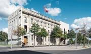 Die Schweizer Botschaft in Berlin. (Bild: Christian Beutler/Keystone (Berlin, 28. September 2015))