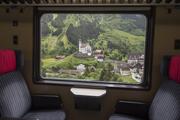 Die berühmte Kirche von Wassen auf der Gotthard-Bergstrecke. (Bild: Keystone)