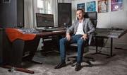 In diesem Studio hat David May einen Nummer-eins-Hit produziert. (Bild: Patrick Hürlimann (Zug, 15. September 2017))