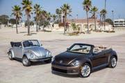 Als Cabrio geniesst der Beetle eine ähnlich hohe Beliebtheit wie sein Vorgänger, der offene Käfer. (Bild: PD)