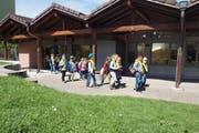Kinder vor dem Kindergarten Fildern. (Bild: PD)