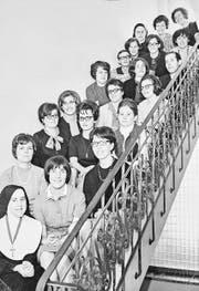 Von oben links: Das frühere Domizil der Schule auf dem Hitzlisberg in Luzern, Schulklassen von 1966–1969 sowie 1957 (unten) und ein altes Schulzimmer. (Bilder: PD)