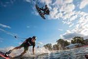 Gibts solche Bilder bald auch aus Ettiswil? Wassersportler in einer Wakeboard-Anlage in Deutschland. (Bild: Getty)