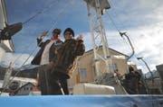 Russische Touristen auf dem Wagen Andersmatte. (Bild Urs Hanhart)