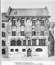 Das Hertensteinhaus mit den Wandmalereien (1510–1825). (Bild: Stadtarchiv/Nadia Schärli)