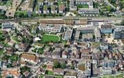 Baar (im Bild eine Luftaufnahme des Zentrums) denkt seine räumliche Zukunft neu. (Bild: Andreas Busslinger/PD)