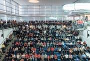 Rund 6000 Besucher zählte die Kultureinrichtung bei den EM-Spielen im letzten Monat. Jetzt verabschiedet sich das Neubad in die Sommerpause. (Bild: Christian Felber)