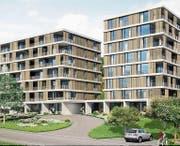 So sollen die Alterswohnungen im Waldheim dereinst aussehen. Visualisierung: PD