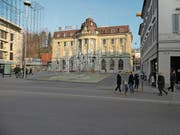 So stellt sich das Komitee den Springbrunnen am Zuger Postplatz vor. (Bild: Visualisierung: Ive Zumbühl)