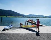 Bald soll eine Verbotstafel dafür sorgen, dass Schwimmer hier nicht mehr in den See einsteigen. (Bild Stefan Kaiser)
