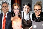 Guido Graf, Bianca Sissing, Nenad Mlinarevic und Ariella Kaeslin geben Tipps. (Bilder: Neue LZ)
