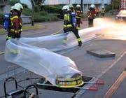 Die Freiwillige Feuerwehr Zug im Einsatz. (Bild: FFZ Zug)