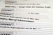 Wieviele Wählerinnen und Wähler wird der 2. Wahlgang für den Regierungsrat mobilisieren können (Bild: Christian Volken / luzernerzeitung.chluzernerzeitung.ch)