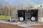So präsentiert sich die neue Talstation der Luftseilbahn Kräbel-Rigi Scheidegg, die an Weihnachten den Betrieb wieder aufnehmen wird. (Bild: PD/Rita Baggentos)