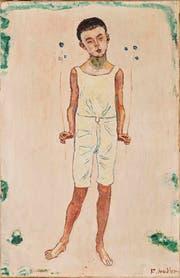 Ferdinand Hodler (1853–1918) «Bezauberter Knabe», um 1905 Öl auf Leinwand, 50 x 32 cm. Kunstmuseum Luzern, Schenkung Monika Widmer. (Bild: Kunstmuseum Luzern)