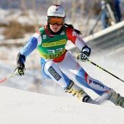 Die Schweizerin Corinne Suter gewann Europacup-Abfahrt. (Bild: Keystone)