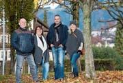 Die Gründer des Vereins Kulturwerk Ebikon (von links): Michael Gründeler, Gisela Gründeler, Marc Bösch und Christa Kempf beim Pfarreiheimplatz. (Bild: Eveline Beerkircher (Ebikon, 26. November 2017))