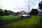 Die Zentralbahn ersetzt in den kommenden Wochen Gleise zwischen dem Loppertunnel und dem Bahnhof Stans. (Bild: Corinne Glanzmann / Neue NZ)